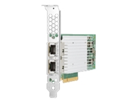 HPE 521T - Network adapter - PCIe 3.0 x8 - 10Gb Ethernet x 2 - for ProLiant DL20 Gen10, DL360 Gen10, DL380 Gen10, MicroServer Gen10, ML30 Gen10, ML350 Gen10