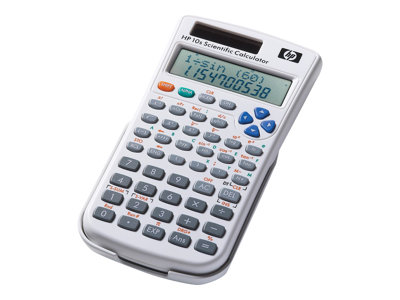 HP 10s+ - Scientific calculator - 10 digits + 2 exponents - solar panel, battery - white