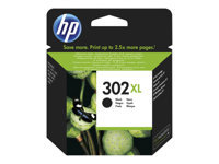 HP 302XL - High Yield - black - original - ink cartridge - for Deskjet 11XX, 21XX, 36XX; Envy 45XX; Officejet 38XX, 46XX