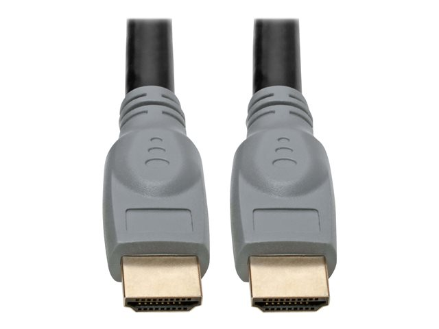 Tripp Lite High-Speed HDMI Cable with Gripping Connectors 4K 60 Hz 4:4:4 M/M Black 25ft