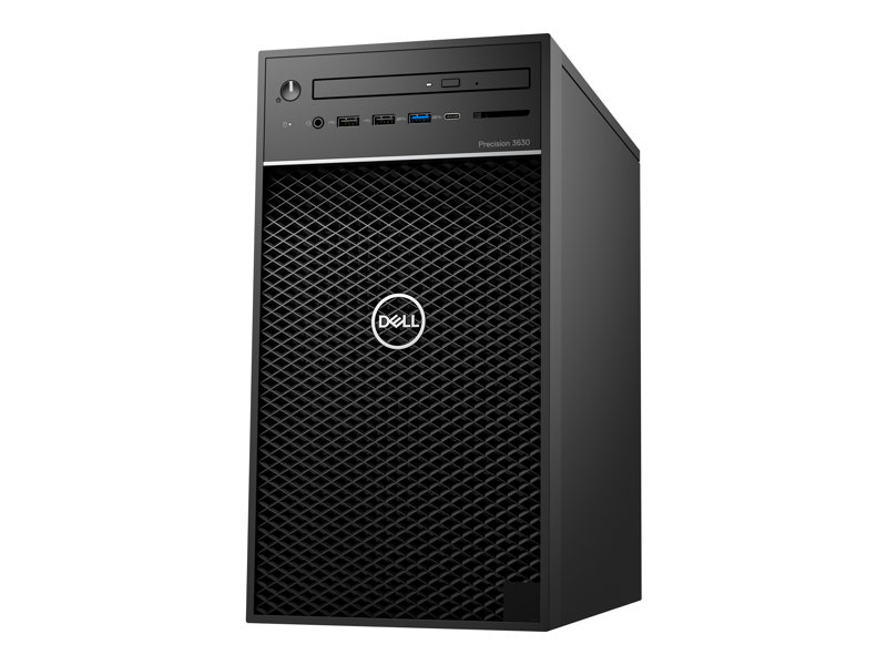 Dell Precision 3630 Tower - MT - Xeon E-2174G 3.8 GHz - 16 Go - 512 Go - avec 1 an de ProSupport NBD