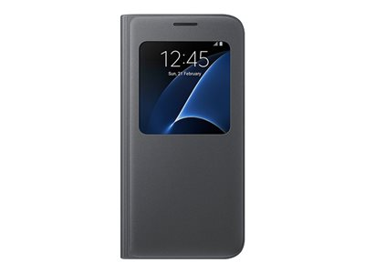 Samsung S-View Flip Cover EF-CG930 Flip cover for cell phone black for Galaxy S