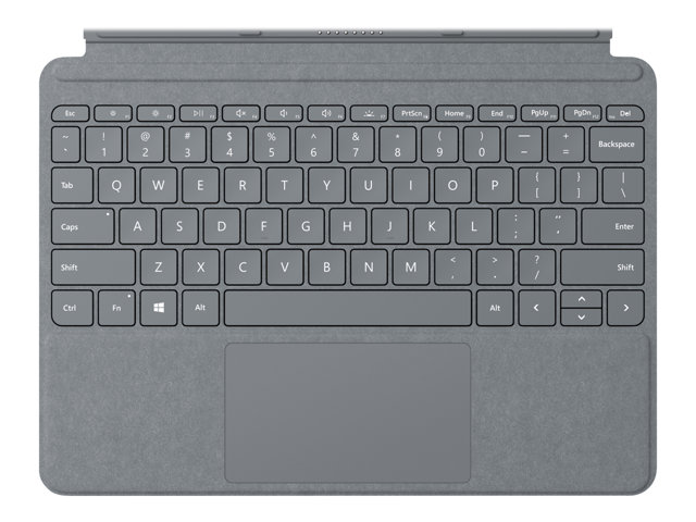 Image of Microsoft Surface Go Signature Type Cover - keyboard - with trackpad, accelerometer - QWERTY - British - platinum