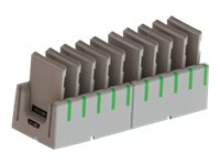 Code 10-Bay Battery Charging Station Battery charger output connectors: 10