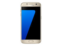 "Samsung Galaxy S7 - SM-G930F - smartphone - 4G LTE - 32 GB - microSDXC slot - GSM - 5.1"" - 2560 x 1440 pixels (577 ppi) - Super AMOLED - 12 MP (5 MP front camera) - Android - platinum gold"