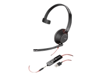 Plantronics Blackwire 5210 - 5200 Series - headset - on-ear - wired - USB, 3.5 mm jack