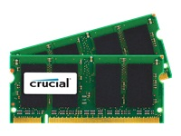 Crucial - DDR2 - 4 GB : 2 x 2 GB - SO-DIMM 200-pin - 800 MHz / PC2-6400 - CL6 - 1.8 V - unbuffered - non-ECC - for Apple iMac (Early 2008); MacBook (Mid 2009)