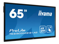"""iiyama ProLite TE6503MIS-B1AG - 65"""" Class (64.5"""" viewable) LED display - interactive communication - with touchscreen - Android - 4K UHD (2160p) 3840 x 2160 - direct-lit LED - matte black"""