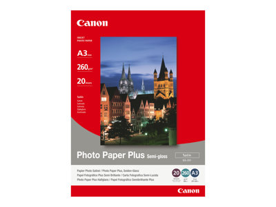 Canon Photo Paper Plus SG-201 - fotopapir - 20 ark - A3 - 260 g/m²