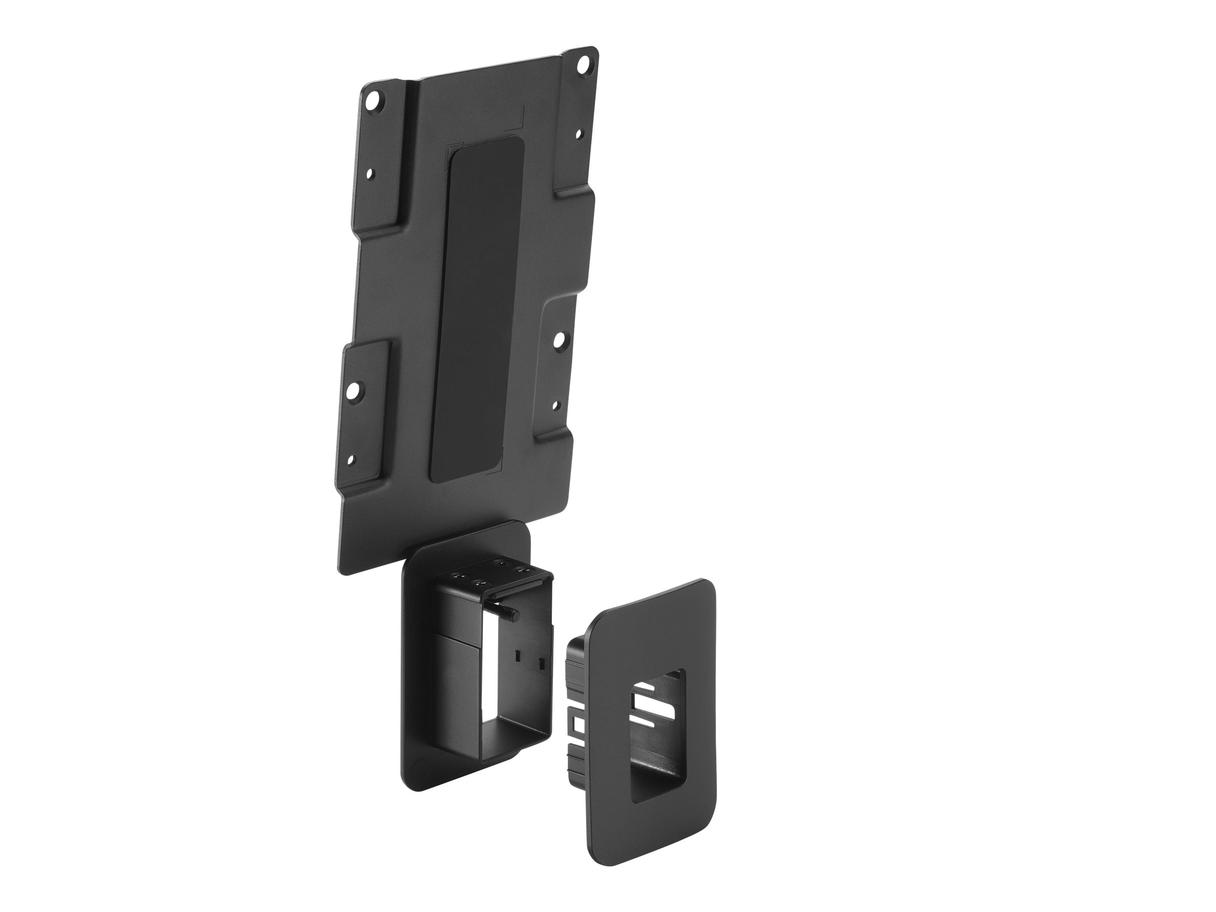 HP desktop to wall/monitor mounting bracket