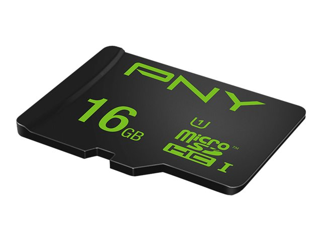 PNY High Performance - Carte mémoire flash (adaptateur microSDHC - SD inclus(e)) - 16 Go - UHS-I U1 / Class10 - microSDHC UHS-I