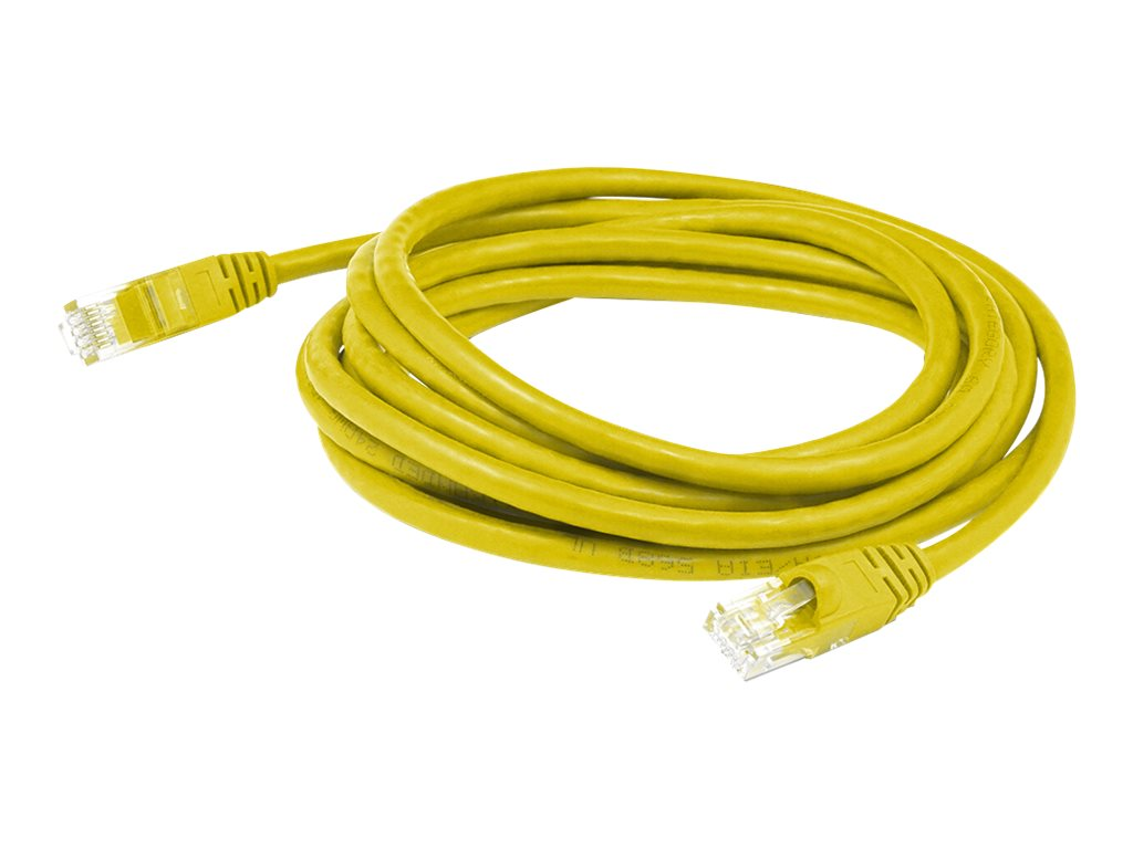 AddOn 7ft RJ-45 Cat6A Blue Patch Cable - patch cable - 2.13 m - yellow