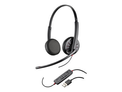 Plantronics Blackwire 325 - 300 Series - headset - on-ear - wired - USB, 3.5 mm jack