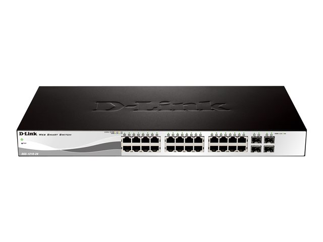D-Link Web Smart DGS-1210-28 - commutateur - 24 ports - Géré - Ordinateur de bureau, Montable sur rack