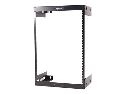 C2G 30U Wall Mount Open Frame Rack 18in Deep (TAA Compliant) Rack wall mountable black