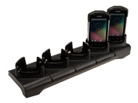 Zebra Five-Slot ShareCradle - Handheld charging stand - output connectors: 5 - for Symbol TC70; Zebra TC70X, TC72, TC75, TC75X, TC77