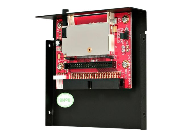 Image of StarTech.com 3.5in Drive Bay IDE to Single CF SSD Adapter Card Reader (35BAYCF2IDE) - card reader - IDE