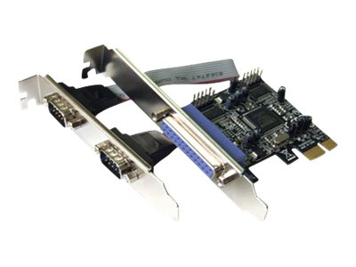 Dawicontrol DC 9112 PCIE - Adapter Parallel/Seriell - PCIe - RS-232 x 2 + IEEE 1284 x 1