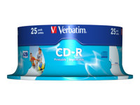 Verbatim DataLifePlus - 25 x CD-R - 700 Mo 52x - surface imprimable - spindle
