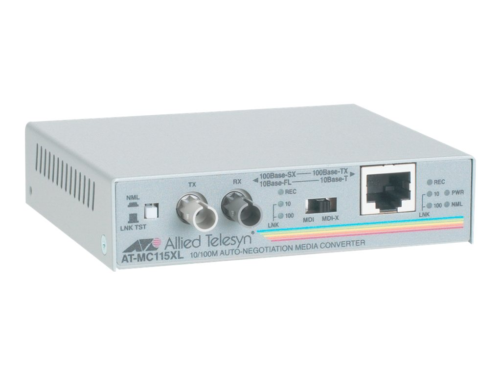Allied Telesis AT MC115XL - Medienkonverter - Fast Ethernet - 10Base-T, 100Base-SX, 100Base-TX, 10Base-FL (ST) - ST multi-mode / RJ-45 - bis zu 2 km