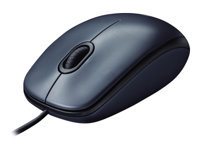 Logitech M100 - Mouse - right and left-handed - optical - 3 buttons - wired - USB - black