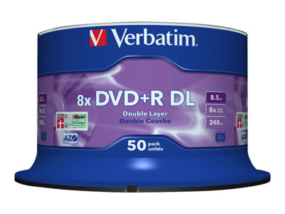 Verbatim 50x DVD+R DL 8.5GB