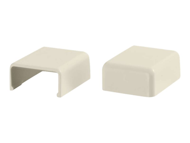 C2G 2 Pack Wiremold Uniduct 2700 Blank End Fitting - Ivory - cable raceway blank end fitting