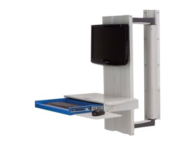 Capsa Healthcare Premium Tandem Arm w/Work Surface-Integrated Tech Box - mounting kit