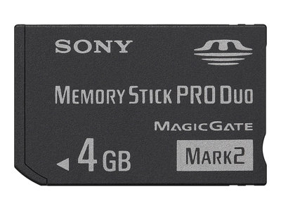 - Flash-Speicherkarte - 4 GB - Memory Stick PRO Duo Mark2