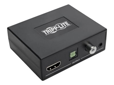 Tripp Lite 4K HDMI Audio Extractor with TOSLINK, RCA and 3.5 mm Stereo Output