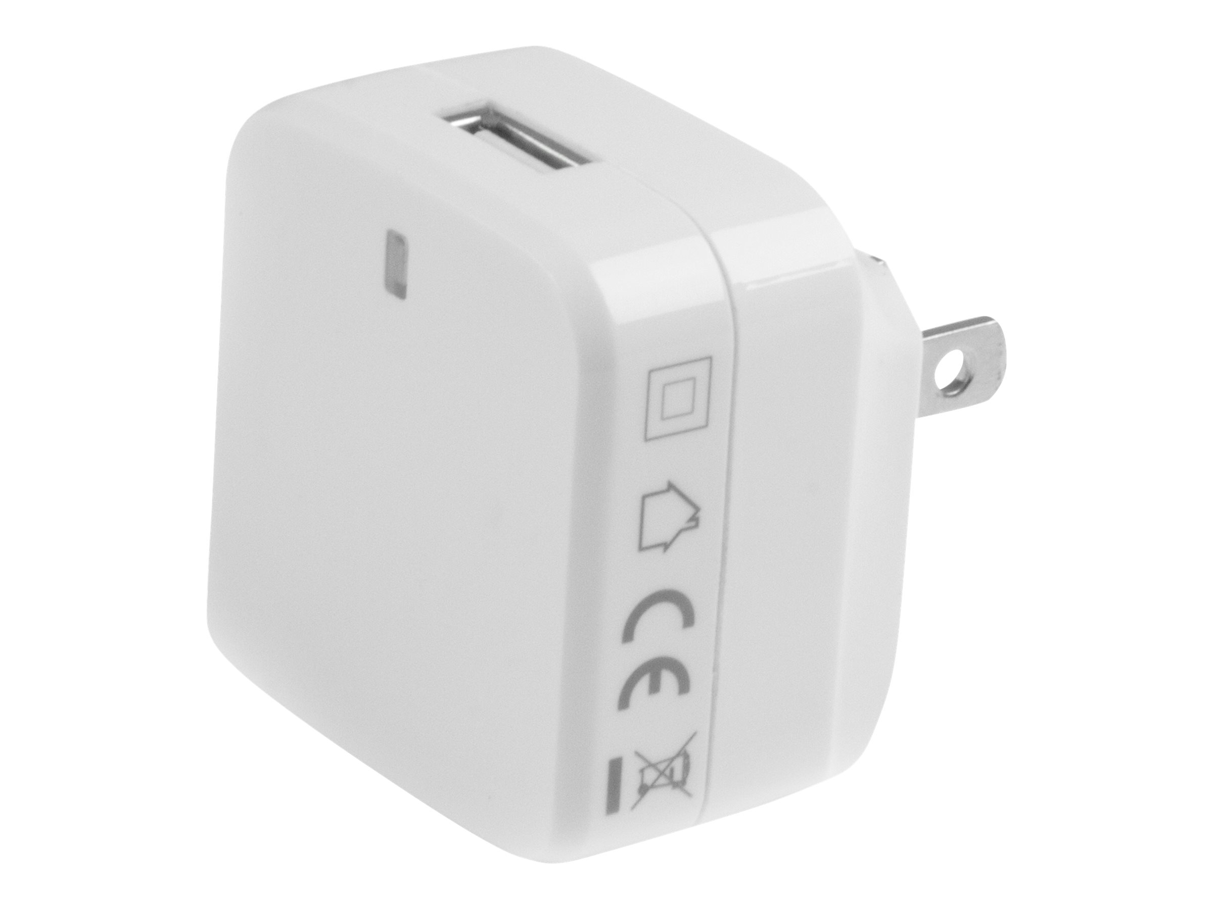 StarTech.com White USB Wall Charger - Quick Charge 2.0 - 110V/220V Charger power adapter - USB