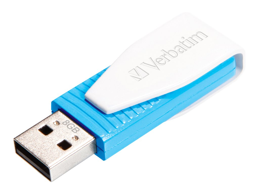 Verbatim Store n Go Swivel - USB-Flash-Laufwerk - 8 GB - USB 2.0 - Caribbean Blue