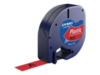 Picture of DYMO LetraTAG - tape - 1 roll(s) - Roll (1.2 cm x 4 m) (S0721630)