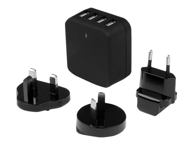 Usb4pacbk Startech Com 4 Port Usb Wall Charger