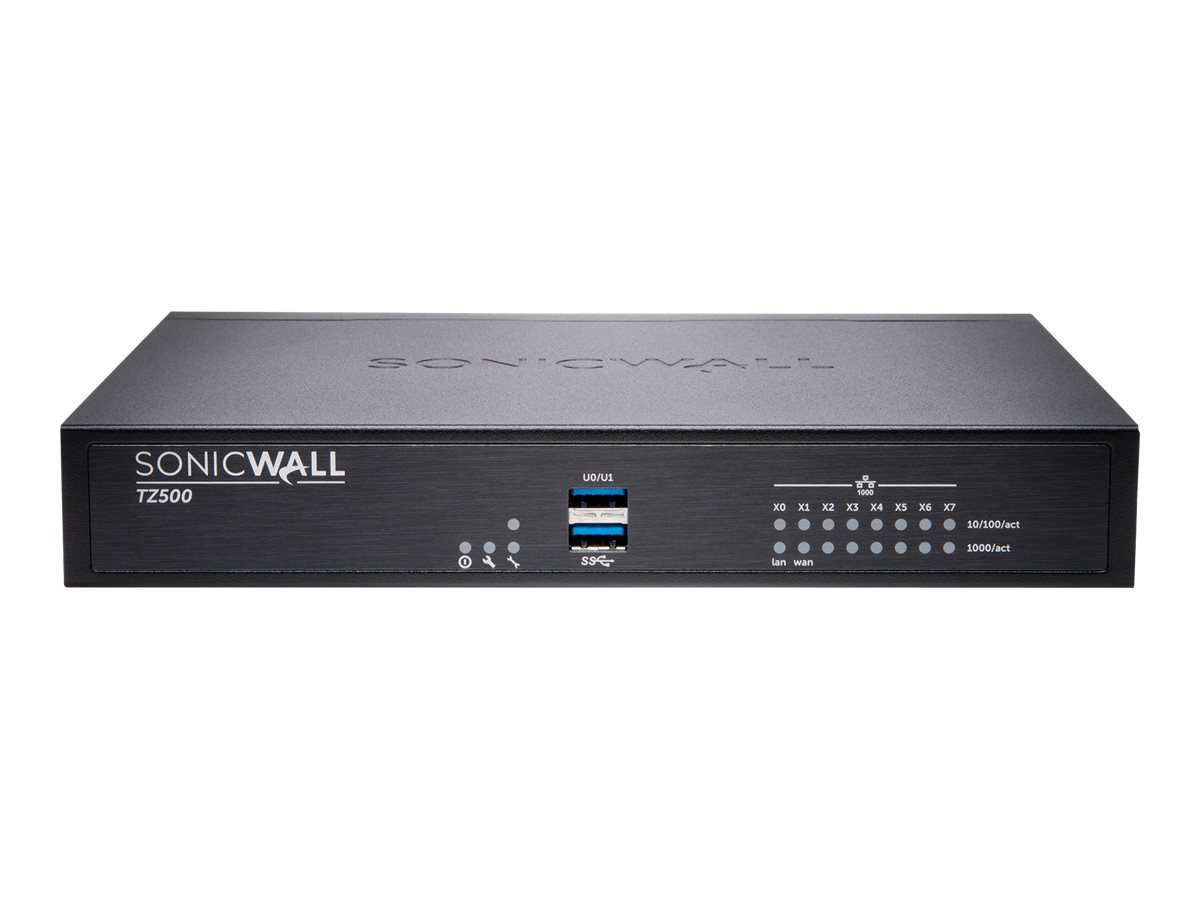SonicWall TZ500 - Advanced Edition - security appliance - Secure Upgrade Plus