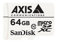 AXIS Companion Card Flash memory card 64 GB Class 10 microSDXC white