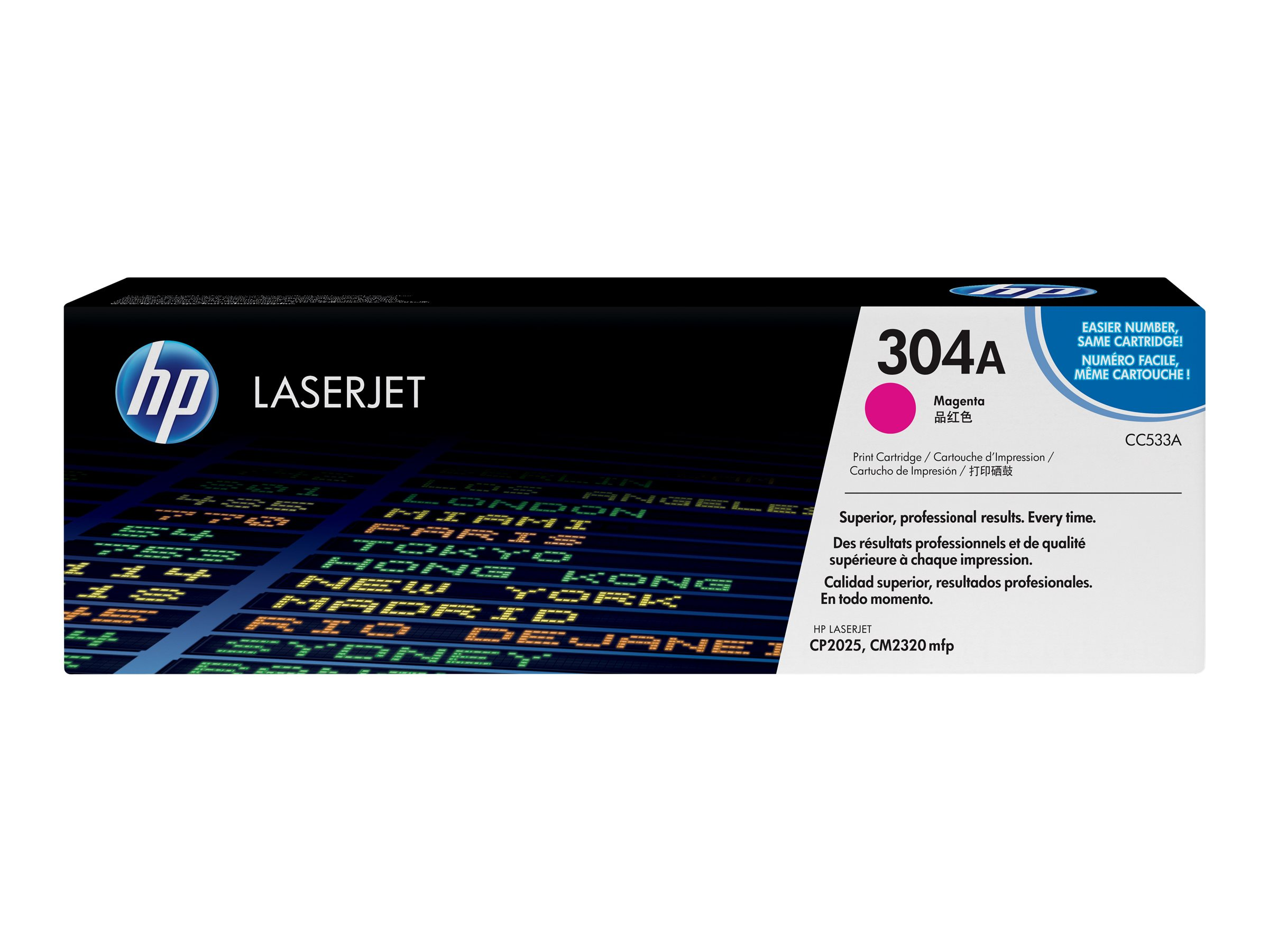 HP 304A - magenta - original - LaserJet - toner cartridge (CC533A)