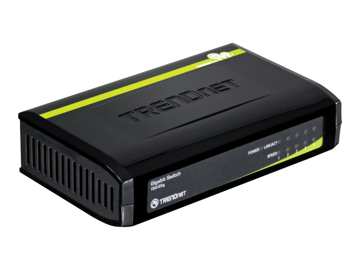 TRENDnet TEG S5g - Switch - 5 x 10/100/1000 - Desktop
