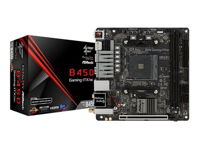 ASRock Fatal1ty B450 Gaming-ITX/ac Mini ITX  AM4 AMD B450