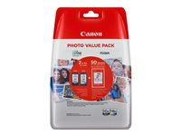 Canon PG-545 XL/CL-546XL Photo Value Pack - Schwarz, Gelb, Cyan, Magenta, Farbe (Cyan, Magenta, Gelb)