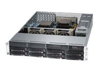 Supermicro SuperServer 6027R-TDARF Server rack-mountable 2U 2-way RAM 0 MB SATA