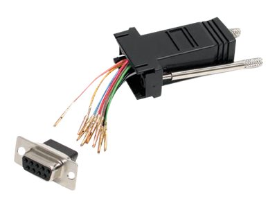 StarTech.com DB9 to RJ45 Modular Adapter - F/F - Serial adapter - DB-9 (F) to RJ-45 (F) - GC98FF - serial adapter