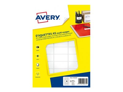 Avery 1792 tiquettes Multiusages 12 x 183mm Impression