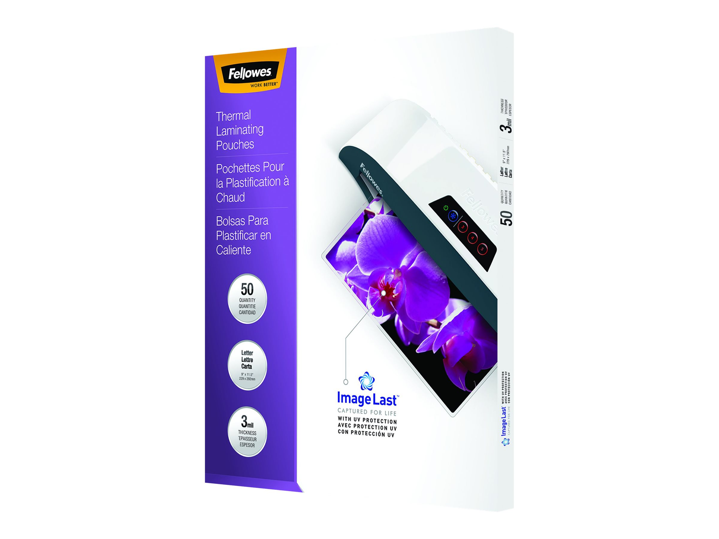 Fellowes ImageLast - 50-pack - glossy - 229 x 292 mm - lamination pouches