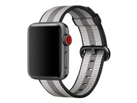 Apple 38mm Woven Nylon Band - Bracelet de montre - 125 - 195 mm - bande noire - pour Watch (38 mm)