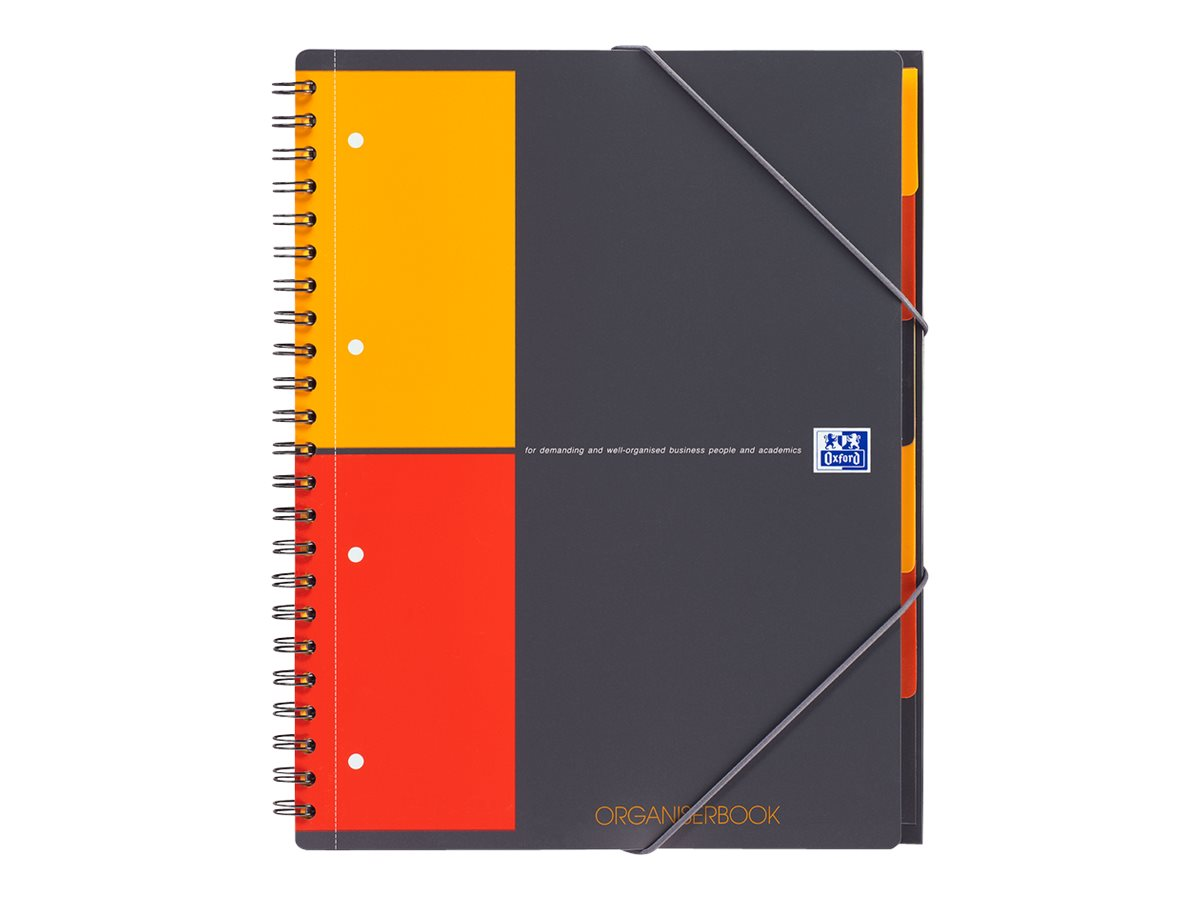 Oxford International Organiserbook A4+ - Cahier - 160 pages - blanc - petits carreaux