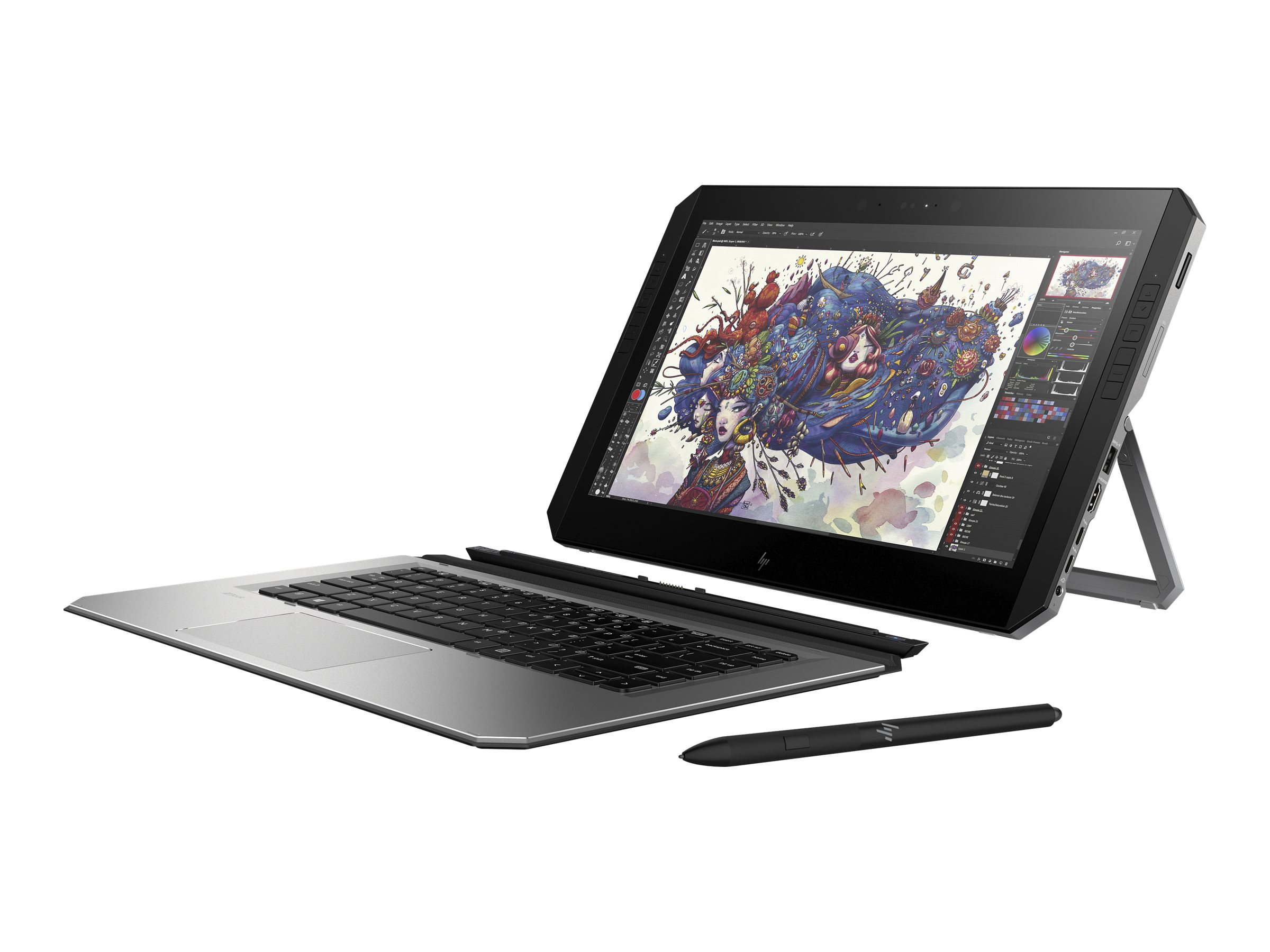 HP ZBook x2 G4 Detachable Workstation - Tablet - mit Bluetooth-Tastatur - Core i7 7500U / 2.7 GHz - Win 10 Pro 64-Bit - 8 GB RAM