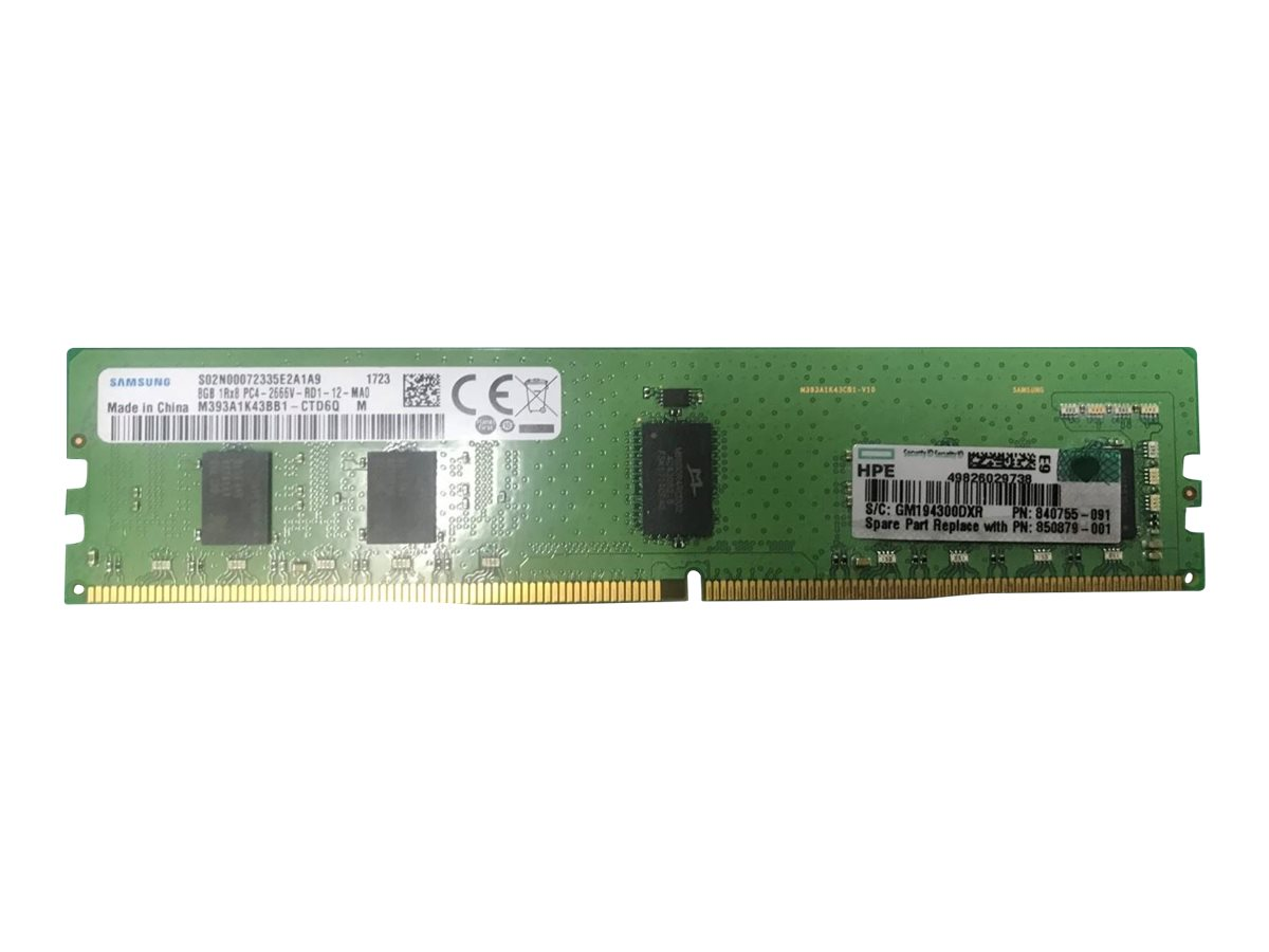 HPE - DDR4 - 8 GB - DIMM 288-pin - registered