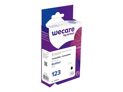 compatibles Brother  Brother LC123 - compatible Wecare K12652W4 - noir - cartouche d'encre