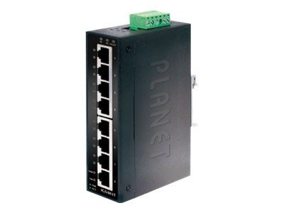 PLANET IGS-801T - Switch - 8 x 10/100/1000 - an DIN-Schiene montierbar